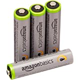 AmazonBasics AAA High-Capacity Rechargeable Batteries (4-Pack) Pre-Charged
