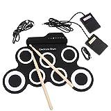 Bright Love Handgerollt USB Electronic Drum Tragbare Trommel Practice Drum Falten Silikon Roll Elektronische Drum-Jazz Drum,White