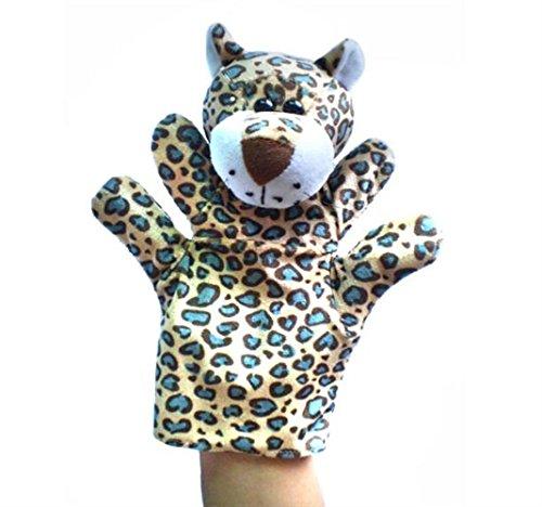 Udane Soft Puppe Puppen Spielzeug Afrikanischer Dschungel Tierpuppe Plüsch Handpuppe Spielzeug (Leopard)