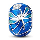 DALARAN Damen Libelle Bead Charms 925 Silber Beads Tierperle für Europäische Armband Schlangenkette