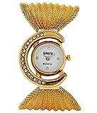 Marclex Golden Analogue White Dial Women's Bracelet Watch