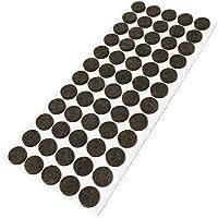 60 x almohadillas de fieltro, Ø 14 mm, redondas, marrón, autoadhesivas, de la máxima calidad (3.5 mm)