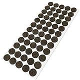 Adsamm / 60 x Feltrini/Ø 14 mm/marrone/tondi/Piedini mobili in feltro autoadesivo di 3.5 mm di spessore di alta qualità