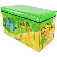 Zizzi - Niños infantil almacenaje grande juguete caja chicos chicas libros pecho ropa asiento taburete shopmonk