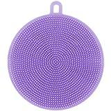 Gaddrt Lave-vaisselle éponge lave vaisselle Nettoyage antibactérien brosse à outils, silicone (Violet)