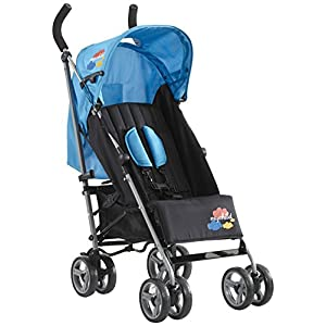Mychild Nimbus Single Buggy Stroller Blue GSDZSY ❀ Material: High carbon steel + ABS + rubber wheel, suitable for children from 6 months to 6 years old, maximum load 30 kg ❀ Features: The height of the push rod can be adjusted, the seat can be rotated 360; the adjustable umbrella can be used for different weather conditions ❀ Performance: high carbon steel frame, strong and strong bearing capacity; rubber wheel suitable for all kinds of road conditions, good shock absorption, seat with breathable fabric, baby ride more comfortable 11