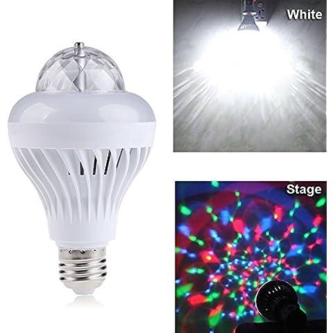 Goeswell Mini RGB completo color que Giratorio LED el de luz de escenario de la antorcha Lámpara con la base E27 para disco del partido de DJ de la de KTV Bares Club
