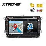 XTRONS® Android 8.0Auto Stereo Radio Player 20,3cm Display Octa Core 4GB RAM 32GB ROM Multimedia in Dash DVD player OBD2Reifendruck Überwachung Wifi für VW Seat Skoda Golf