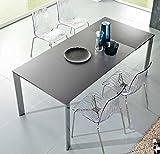 Friulsedie Tisch t92dioniso 120x 80Duetto Beine aus Metall, Tischplatte aus Glas Kratzfest