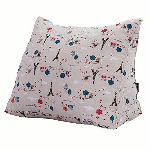 GUOWEI Große Rückenlehne Kissen Kissen Lendenkissen Rückenlehne Sofa Bett Sitzzubehör Softcase Baumwolle Unterstützung 2 Größen Große Kissen Nachttisch Rückenlehne (Farbe : A, Größe : 50x20x35cm)