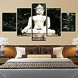 ZAINALIA Affiche Cadre Décor À La Maison Modulaire Toile Image 5 Panneau Bouddha Paysage Top-Classe Mur pour Salon Moderne Peinture Type,Cadre 10x15 10x20 10x25cm