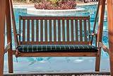 Hambiente Coussin pour balancelle de jardin 2 places avec fermeture éclair pour faciliter le lavage VE74-Vert