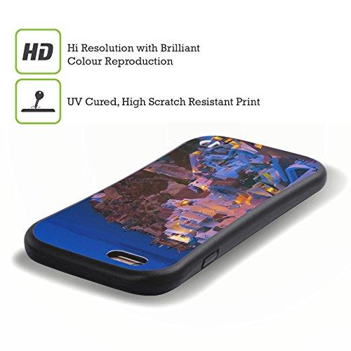 Ufficiale Haroulita Al Mare Architettura Santorini Case Ibrida per Apple iPhone 7 Plus / 8 Plus Notte
