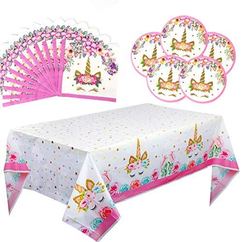 Unicorn Party Supplies Set Kit vajilla decoración