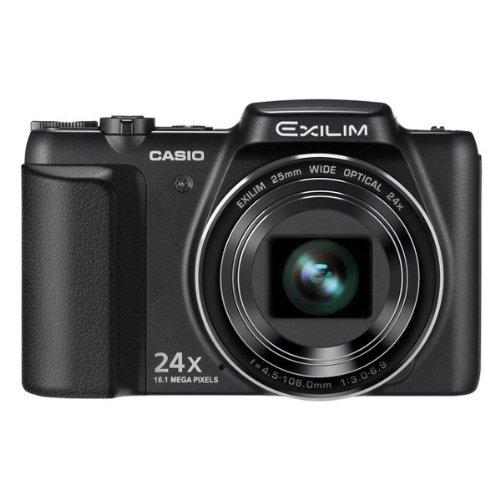 Casio Exilim Hi-Zoom EX-ZS200 Digitalkamera (16,1 Megapixel, 24-fach opt. Zoom, 7,6 cm (3 Zoll) TFT-Display, 25mm Weitwinkel, bildstabilisiert) schwarz Casio Exilim