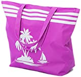 Airee Fairee Strandtasche Damen Schultertasche Shopper Sommer TascheVerschluss Reißverschluss...