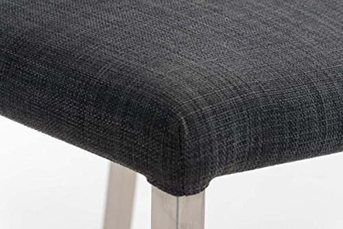 Clp sgabello alto arik in acciaio inox e tessuto sgabello da