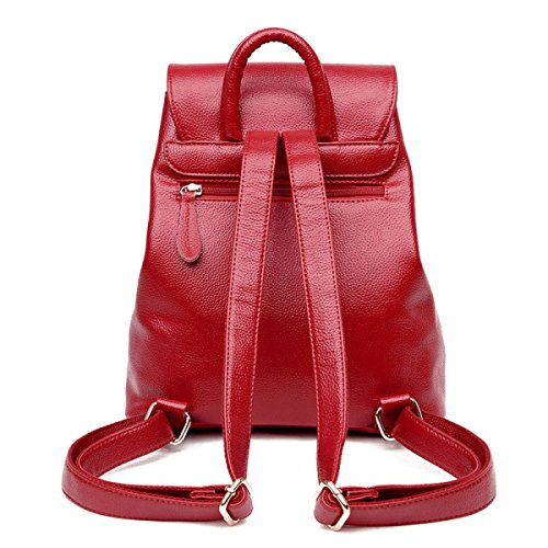 Zaino Versione Coreana Spalla Occasionale Di Nuova Moda Di Viaggio,Red Red