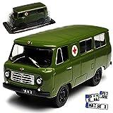 Unbekannt UAZ 450 Transporter Gün Krankenwagen Rotes Kreuz 1/43 Modellcarsonline Modell Auto mit individiuellem Wunschkennzeichen