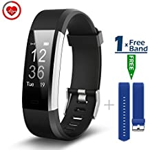 CHEREEKI Pulsera Inteligente con Pulsómetro Pulsera Actividad con Contador de Calorias/ Monitor de Sueño/ Contador de Pasos/ Reloj Fitness Tracker Smartwatch para Android y iOS iPhone