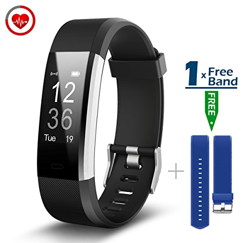 Galleria fotografica Fitness Tracker [Versione Aggiornata] CHEREEKI Cardiofrequenzimetro IP67 Waterproof Activity Tracker Smart Watch Pedometro Smartwatch Notifiche Chiamate/ SMS/ WhatsApp/ Facebook per Android e iOS
