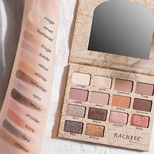 Ombre à Paupières 14 Couleurs Imperméable à l'eau Pinceau Plaque Poudre Fard à Paupières PowerFul-LOT Matt Maquillage Cosmétique