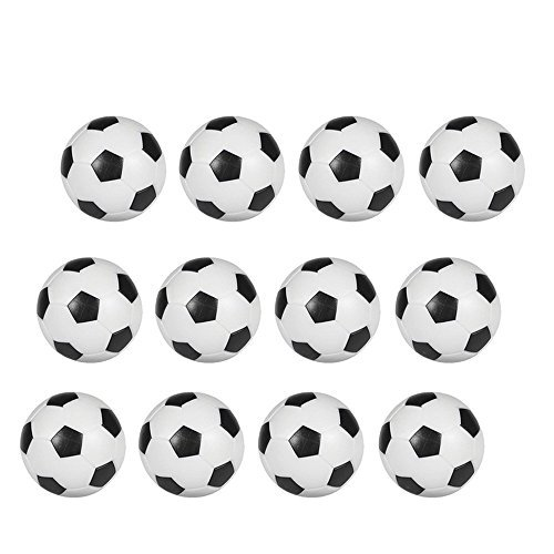 Hosyl Tisch Fußball foosballs Ersatz Mini schwarz und weiß Fußball Bälle 12Stück -