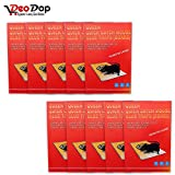 #9: Catch Mouse/Rat Glue Traps, 10pc Mouse Insect Rodent Lizard Trap Rat Catcher Adhesive Sticky Glue Pad for rats/lizards/ cockroaches/ ants/ mouse/ rodents (Pack of 10) | mice trap glue | mouse repellent for home | mouse trap for big rats | mouse kill glue| mouse kill trap | Mouse/ Rat Bond Traps|