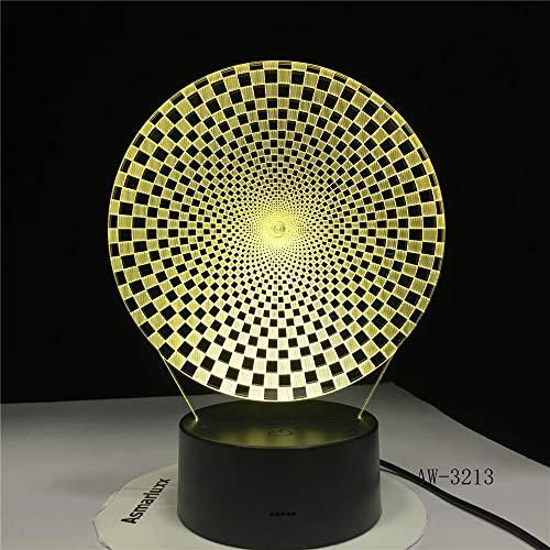 BFMBCHDJ Abstrakte bunte visuelle geführte Form 3D beleuchtet Usb-Tiertischlampen-Schlafzimmer-Schlaf-Beleuchtungs-Befestigungs-Dekor