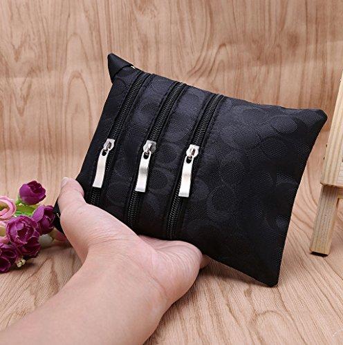 Dairyshop Donne Piccola borsa Borsa borsa della del sacchetto del corpo della borsa del sacchetto (Nero) Nero