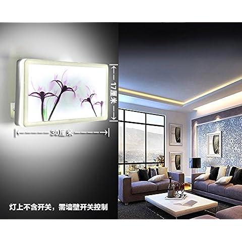 XiangMing Colazione continentale prima lampada a specchio bedroom minimalista moderno personalità creative salotto cinese corridoio Balconi Scale , luci da parete (Orchid ?