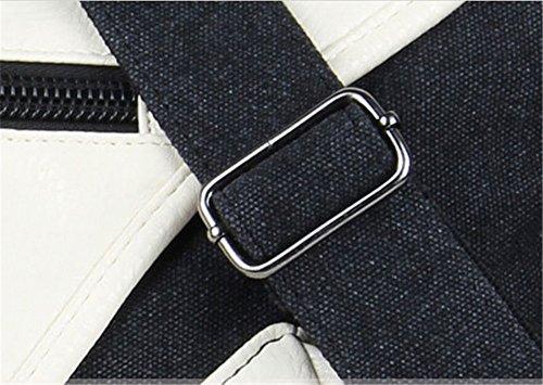 Wewod , Borsa Messenger  Donna, Schwarz-weiß-Druck (Multicolore) - D-01 Washed schwarz
