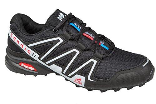 GIBRA® Sportschuhe, sehr leicht und bequem, schwarz/silber, Gr. 36-41 Schwarz/Silber