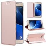 SMARTLEGEND Coque Samsung Galaxy J5 2016, Portefeuille en Cuir Magnétique Or Rose...