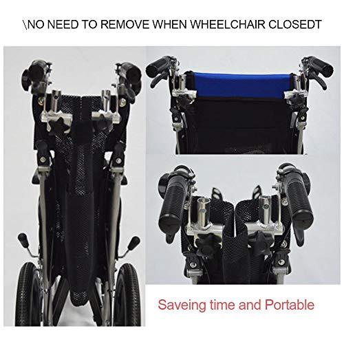51Z8iZBRq7L - Juanya Almohada ajustable para reposacabezas de silla de ruedas con tubo de mango trasero, soporte para el cuello de 16 a 20 pulgadas, color negro