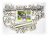 Zur Einschulung Schule Deko Bilderrahmen 10x15 cm Holz Geschenke Schulkinder Junge Mädchen