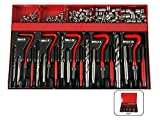 131 tlg Set Gewinde Reparatur Größe M5 - M6 - M8 - M10 - M12