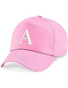 4sold Niños Escuela Bordado Gorra Niños Hat Alphabet A - Z Verde Rosa Claro