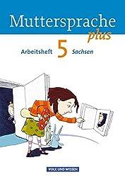 Muttersprache plus - Sachsen: 5. Schuljahr - Arbeitsheft