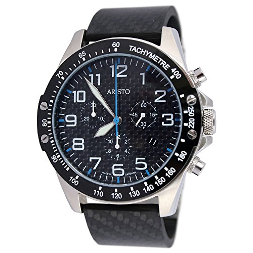 Aristo quarzo Timing Carbon Trophy - Cronografo Blu 4h157b