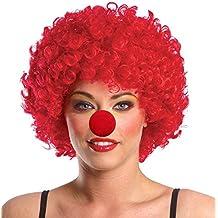 Peluca de Payaso Disfraz de Adulto para Fiesta Halloween, Navidad