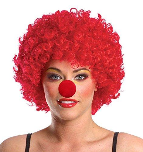 quin Honey Fancy Dress Clown Halloween Costume jester (Red Wigs) ()