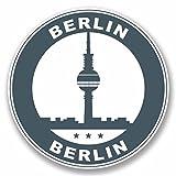 2x Berlin Germany Vinyl Aufkleber Aufkleber Laptop Auto Reise Gepäck Label Tag # 9800 - 10cm/100mm Wide