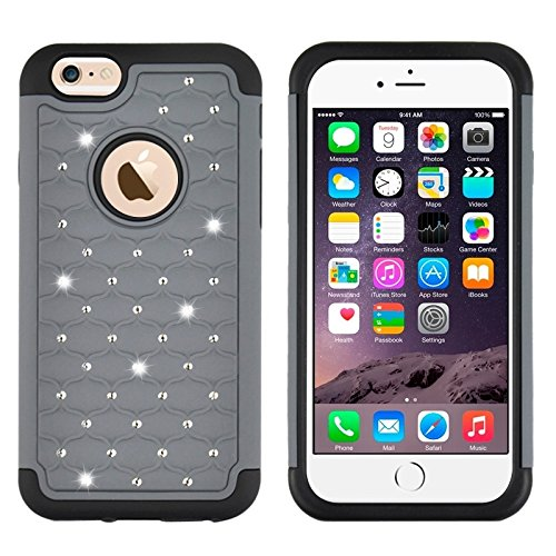 Phone case & Hülle Für IPhone 6 Plus / 6S Plus, Fußball Textur Kunststoff Fall ( Color : Grey ) Grey