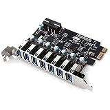 Dealit 7 porte Superspeed PCI-E alla scheda di espansione USB 3.0 PCI Express interno (PCI-E USB 7 Ports)