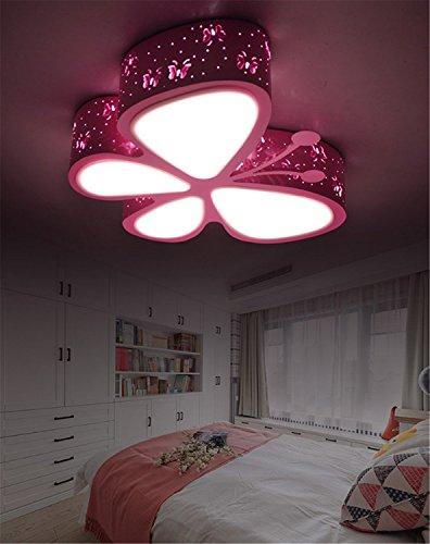 Deckenleuchten Rosa Schmetterling Mädchen Led Dimmbar Mit Fernbedienung Schlafzimmer Lampe Baby Leuchte Deckenlampe Für Kinderzimmer Babylampe Kinderlampe Kinderleuchte Kinderzimmerlampe (Dimmbar)