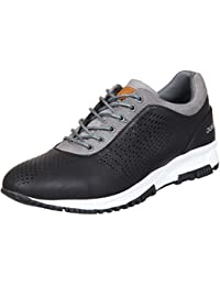 Duke Mens Black/Grey Casual Shoes