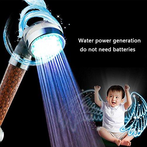 Preisvergleich Produktbild Duschen Wasserhahn LED Temperaturregelung Farbe Universal Handbrause Dusche Spray Bad Duschkopf ( Color : 2 )