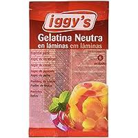 Iggy´s Gelatina Neutra en Láminas - Paquete de 10 x 10 gr - Total: 100 gr