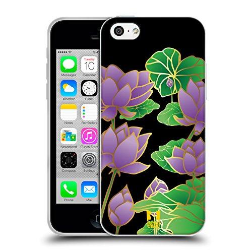 Head Case Designs Grün Kreise Mod Muster Soft Gel Hülle für Apple iPhone 5 / 5s / SE Lotus